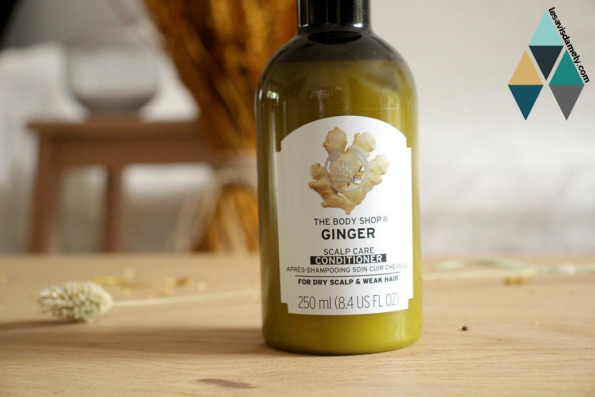 revue après shampooing soin cuir chevelu gingembre the body shop