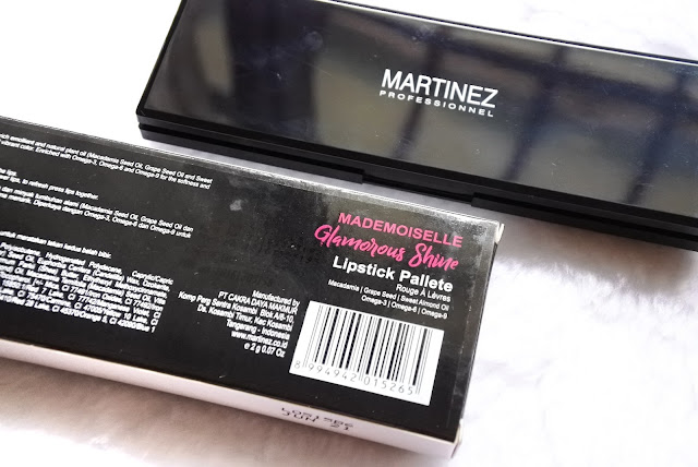 Review Martinez Glamorous Shine Lipstick Pallete