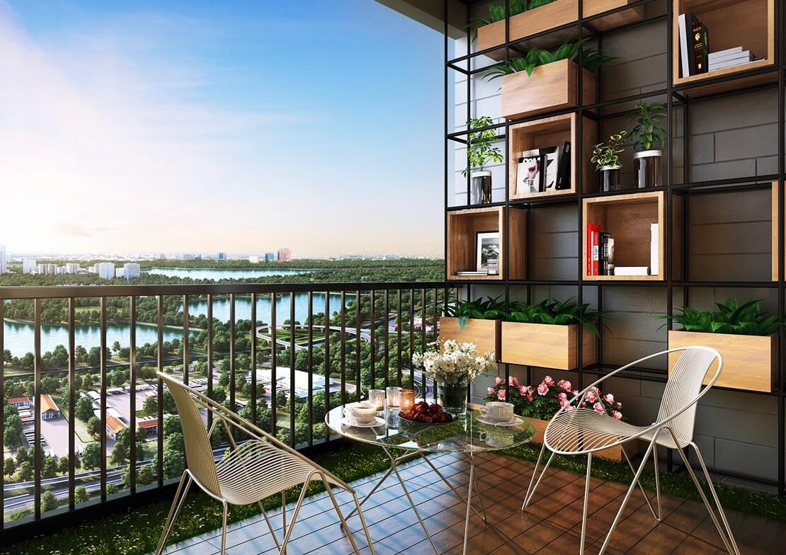 Tầm nhìn Panorama tại căn hộ chung cư Phương Đông