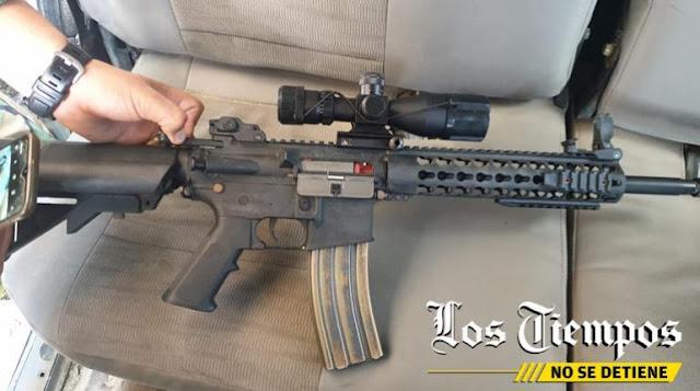 Arma decomisada en el Chapare