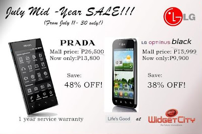 2012 LG and Widget City Mid-Year Sale