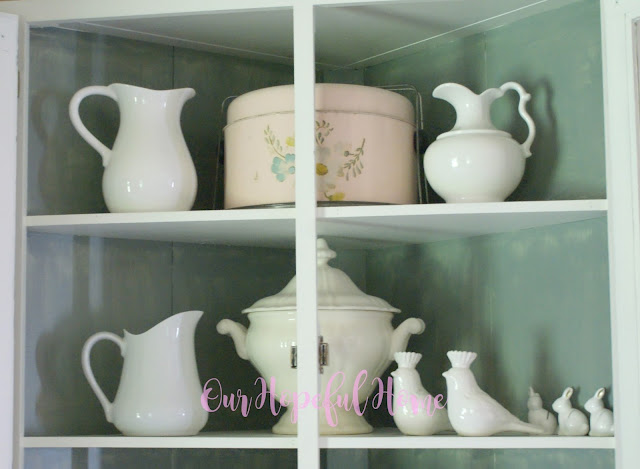 farmhouse china hutch ironstone collection