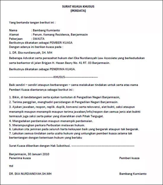 Contoh Surat Resmi Perusahaan: Kumpulan Contoh Surat Kuasa Yang Benar