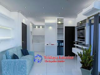 interior-apartemen-warna-putih