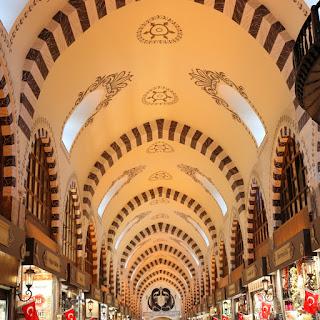 Grand Bazar di Istanbul, panoramica del soffitto a volte