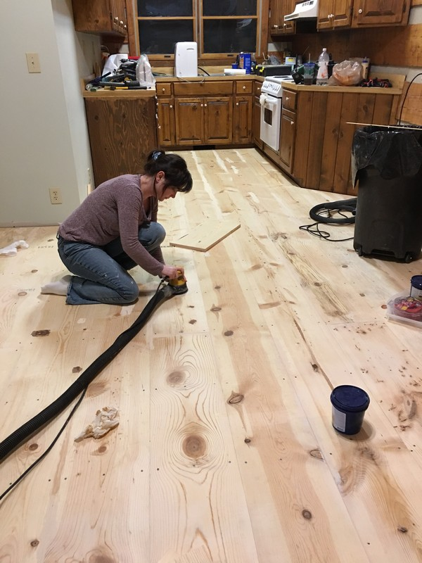 Diy Wide Plank Pine Floors Finishing Sanding