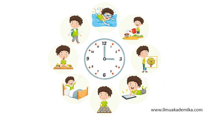 jadwal aktifitas sehari hari dalam bahasa arab