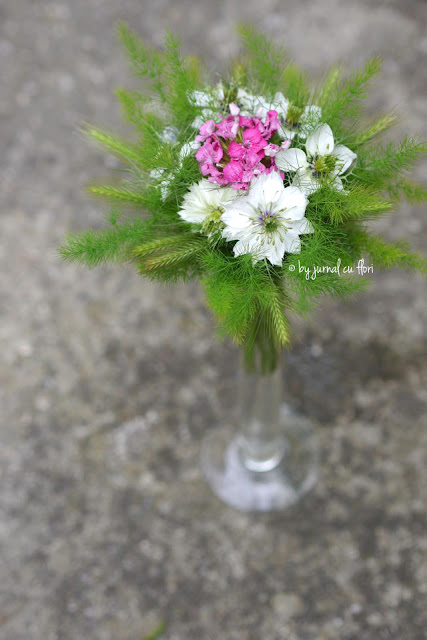 buchet flori de gradina luna iunie spice garden flower nigella bouquet