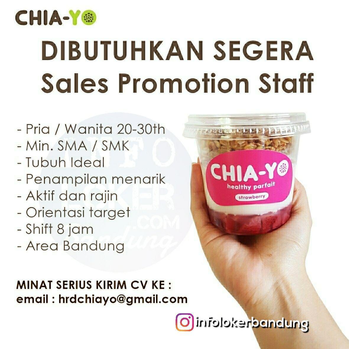 Lowongan Kerja Chia-yo Bandung April 2018