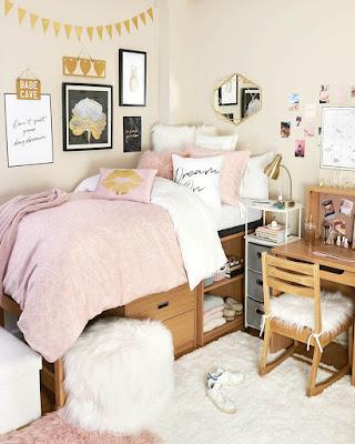 dorm room ideas pink