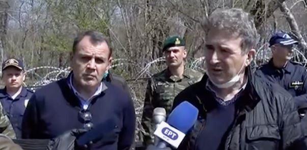 Στον Έβρο ο υπουργός Εθνικής Άμυνας, Νίκος Παναγιωτόπουλος και ο υπουργός Προστασίας του Πολίτη, Μιχάλης Χρυσοχοΐδης