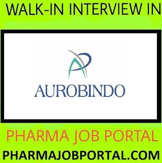 AUROBINDO PHARMA LTD  Walk In Interview at 2  September
