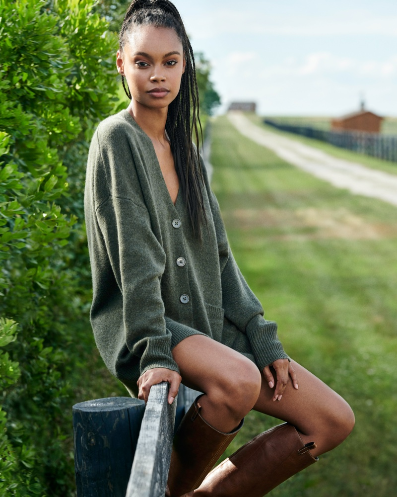 Model Taelor Thein fronts Naked Cashmere fall 2020 campaign.
