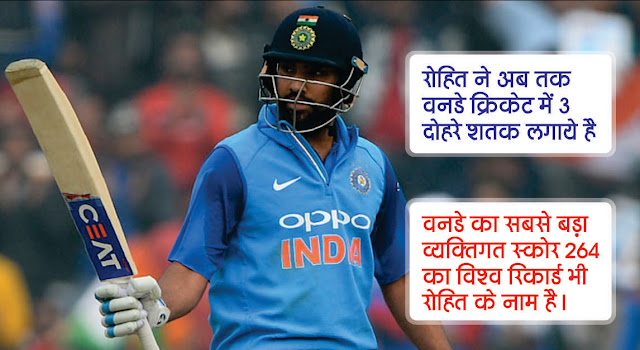 World record of Rohit Sharma in oneday international cricket. Rohit have make 3 double century in one day International