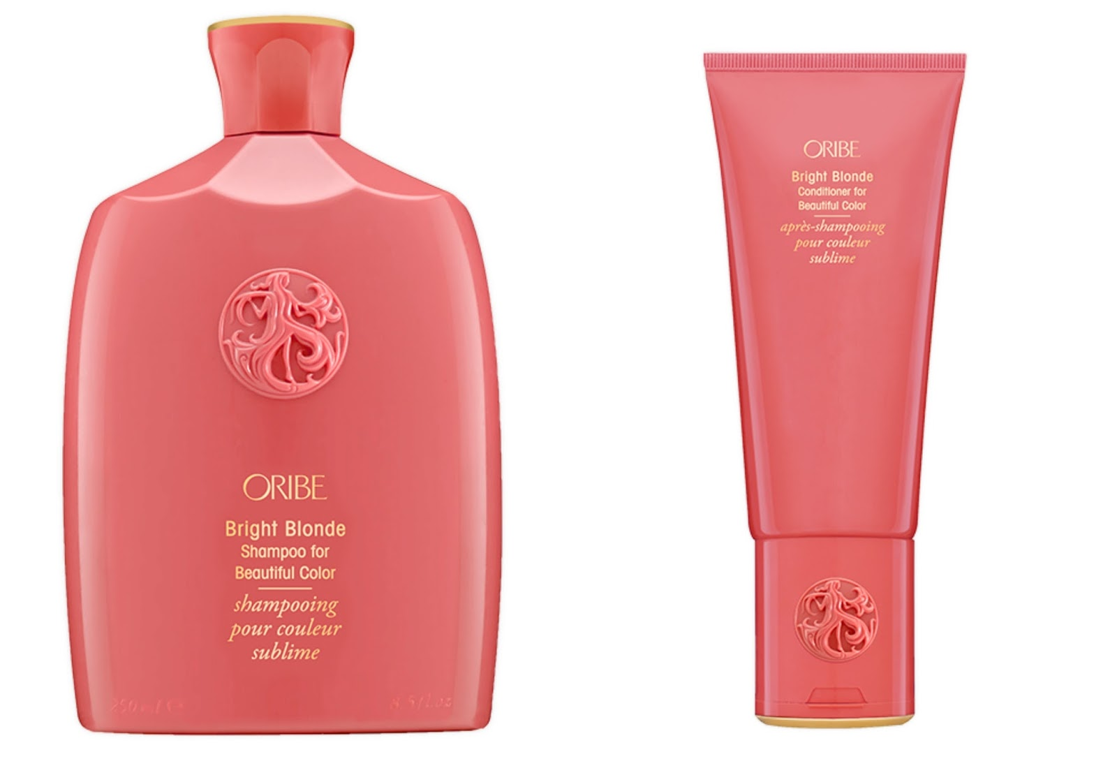 Oribe Bright Blonde shampoo and conditioner