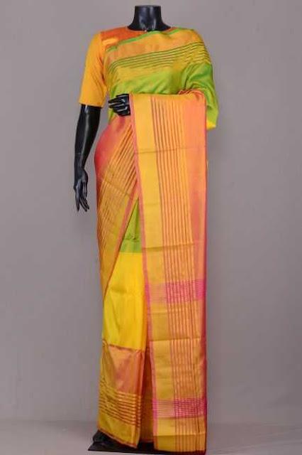 Uppada Multi Colours Pure Silk Saree