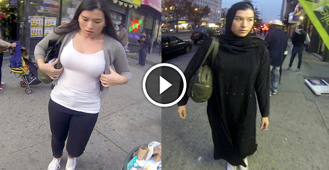 This Women Just Wear Hijab First Time In The Public And Gets Great Respect-See How Mans React!