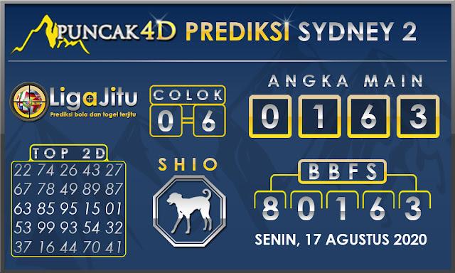 PREDIKSI TOGEL SYDNEY2 PUNCAK4D 17 AGUSTUS 2020