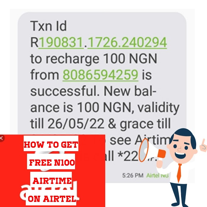 How to get free N100 On Airtel sim cards