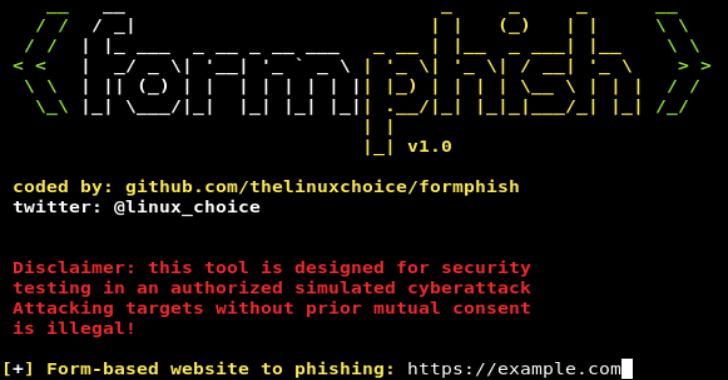 Formphish – Auto Phishing Form Based Websites