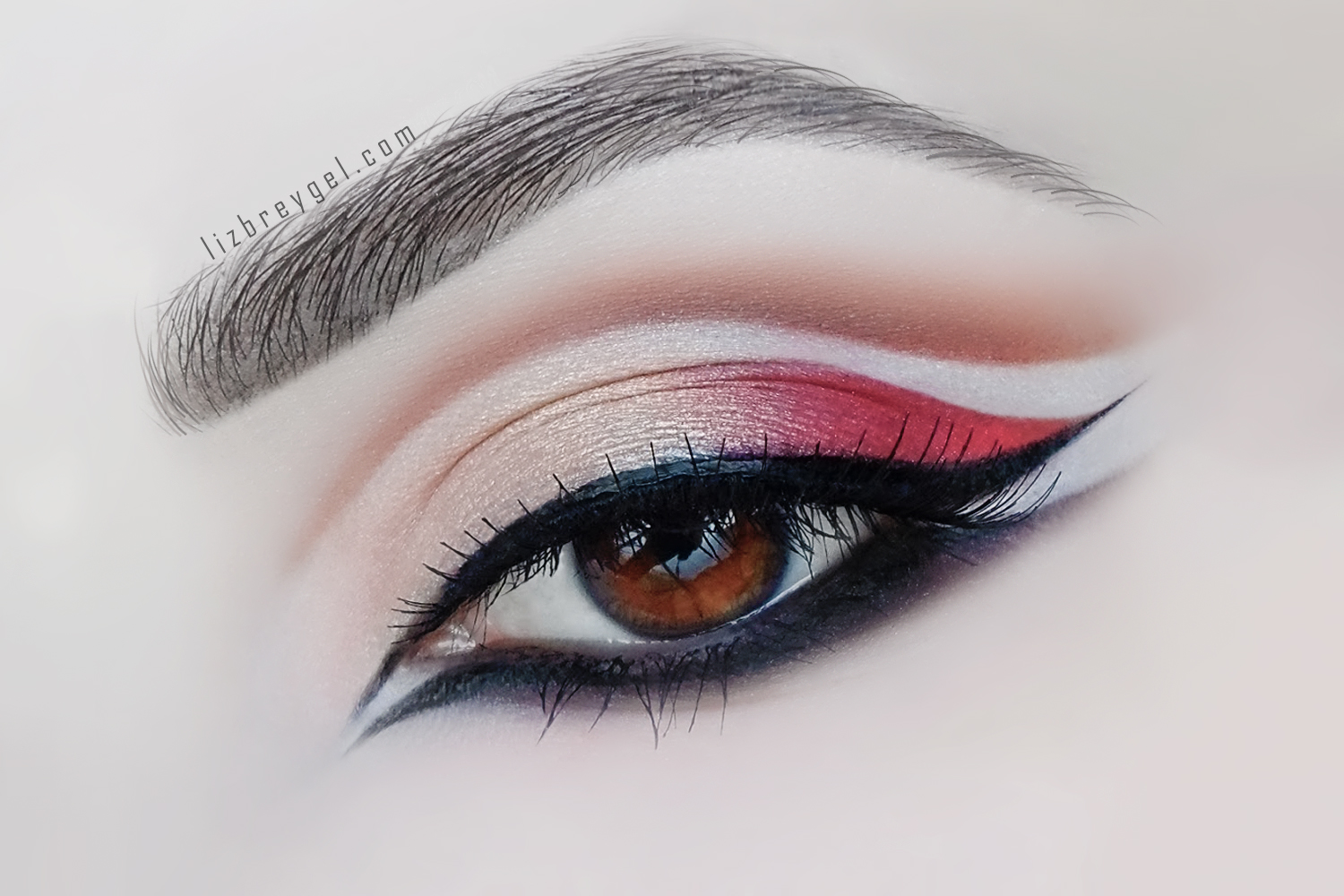 Double Cut Crease And Double Liner Step by Step Makeup Tutorial by Liz Breygel on Janaury Girl