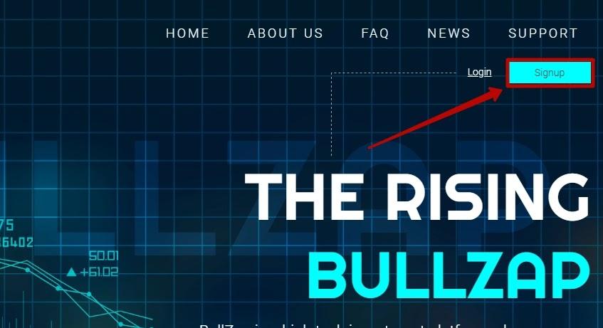 Регистрация в BullZap