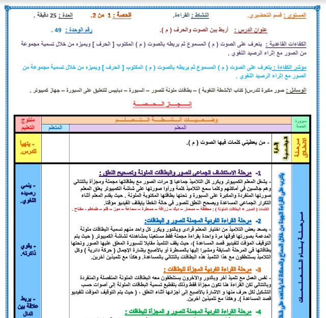 مذكرات القـرآءة للـقـسـم التحـضـيـري - PDF