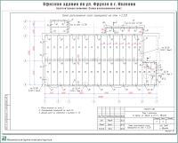 Проект офисного здания по ул. Фрунзе г. Иваново. Конструктивные решения - Схема расположения плит