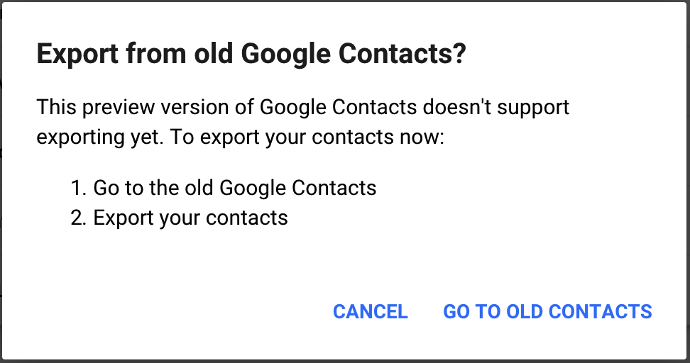 G Suite Updates Blog: Enable the new Google Contacts for your users