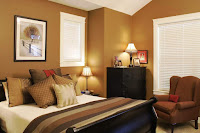 Shade of brown bedroom wall color idea