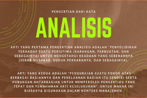 pengertian analisis dan arti analisis