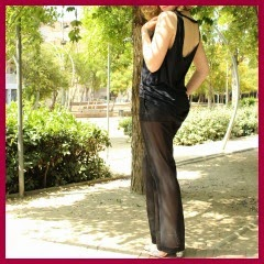 PANTALON CON TRANSPARENCIAS