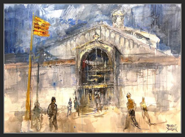 MERCAT DEL BORN-PINTURA-ART-BARCELONA-ARQUITECTURA-FERRO-MONUMENTS-BARRI-LA RIBERA-HISTORIA-CATALUNYA-PINTOR-ERNEST DESCALS