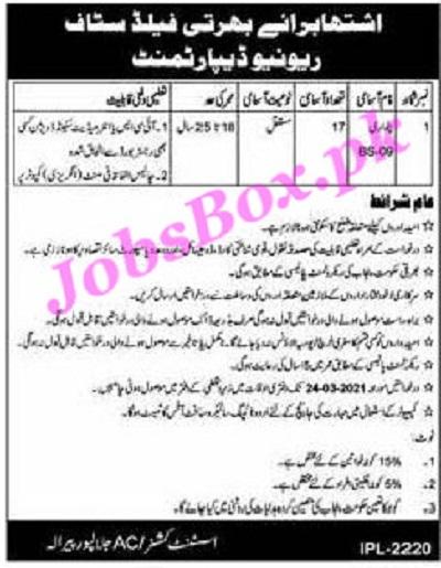 revenue-department-jalalpur-pirwala-patwari-jobs-2021-advertisement