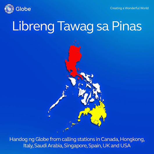 Globe offers Libreng Tawag from 8 countries to the Philippines