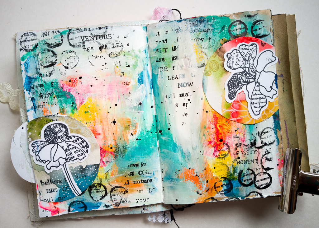 Susanne Rose Designs Art Journal Page With Watercolor