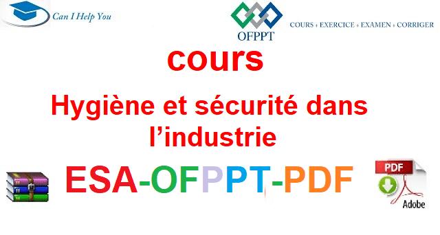 Hygiène et sécurité dans l'industrie  Électromécanique des Systèmes Automatisées-ESA-OFPPT-PDF