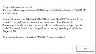 Mengatasi PUBG Lite PC : The Global Shader Cache 2