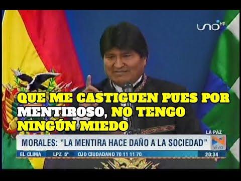VIDEO: EVO MORALES ARGUMENTA SU DENOMINADA LEY DE LA MENTIRA