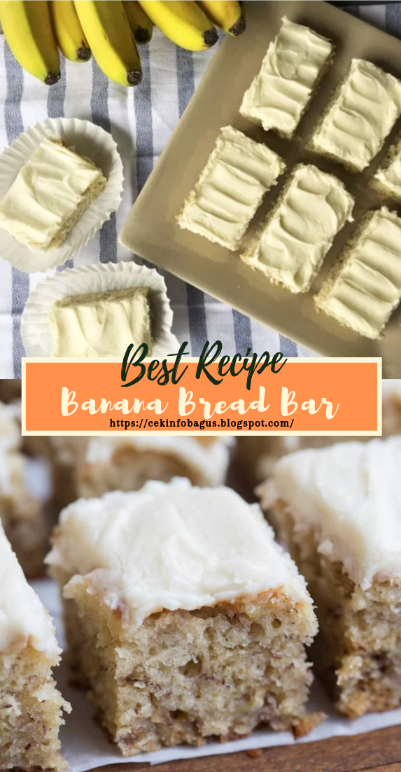 Banana Bread Bar #desserts #cakerecipe #chocolate #fingerfood #easy