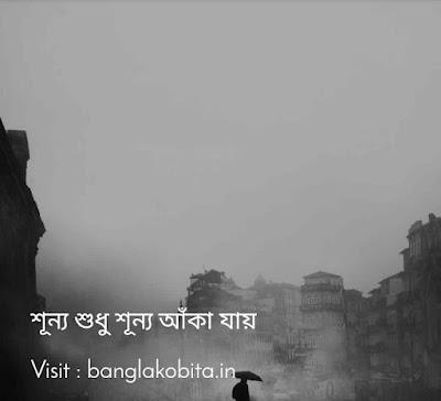 বাংলা কবিতা শূন্য শুধু শূন্য আঁকা যায়