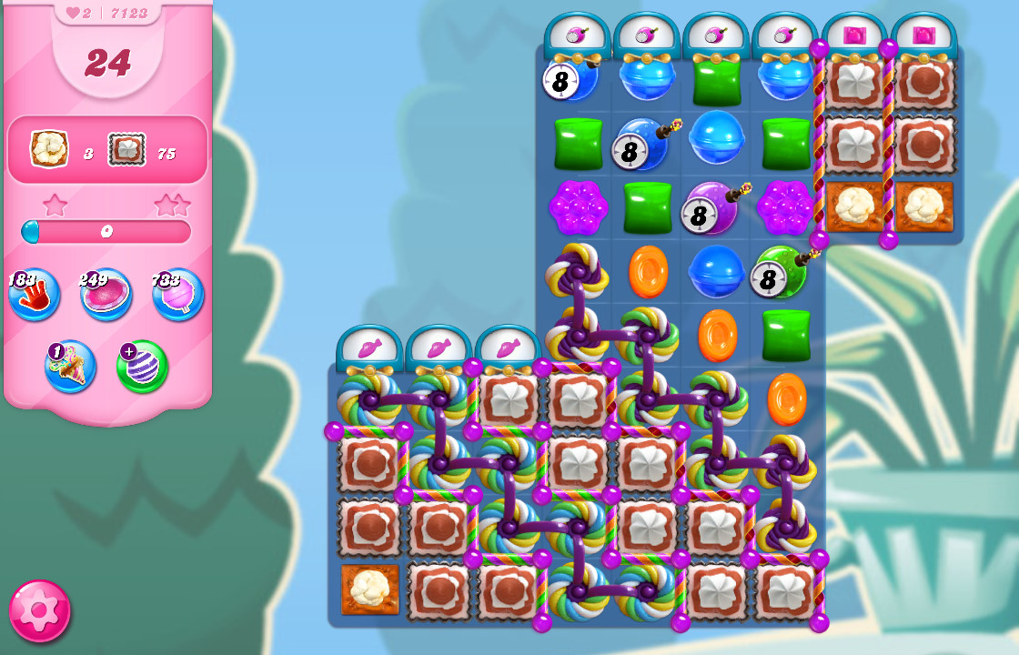 Candy Crush Saga level 7123