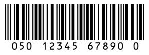 Barcode jenis Code Interleaved 2 of 5