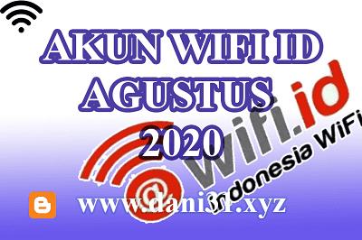 Akun Wifi ID Gratis Bulan Agustus 2020