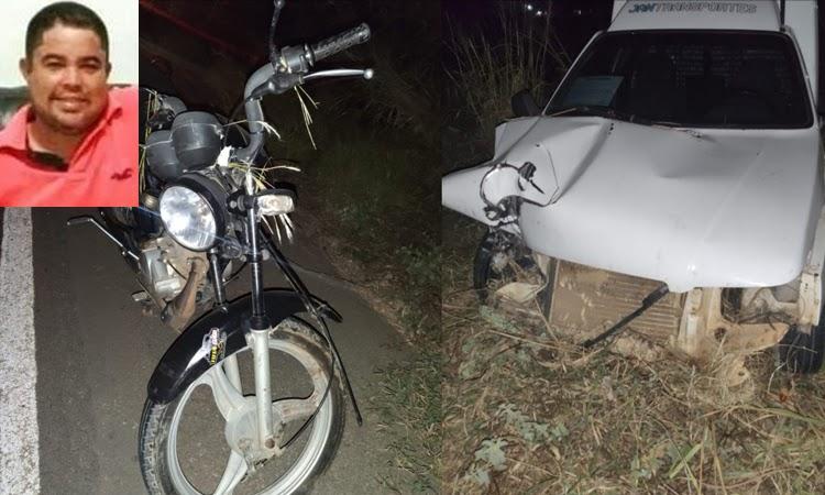 Homem morre após acidente entre carro e moto na BR-030 em Guanambi