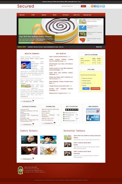 Template CMS Lokomedia Kode Lokomedia03