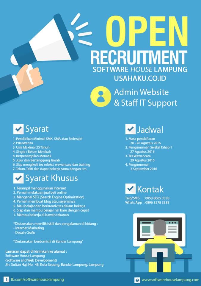 Lampung - Lowongan Kerja Software house Lampung  Lowongan