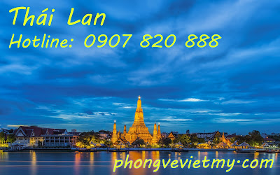 Vé máy bay đi Thái Lan quận Tân Bình