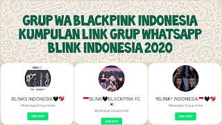 grup whatsapp blackpink indonesia 2020