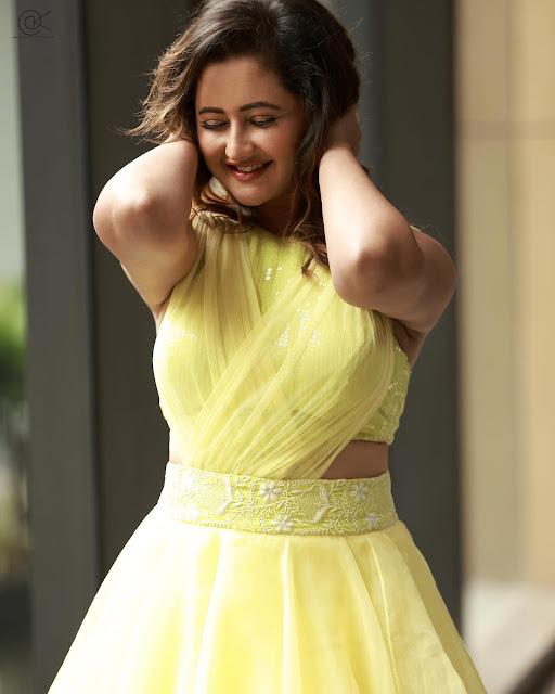 Rashami Desai Recent Photos in Yellow Dress Actress Trend